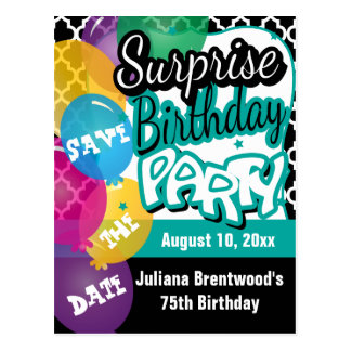 Surprise Birthday Party | Save the Date Postcard