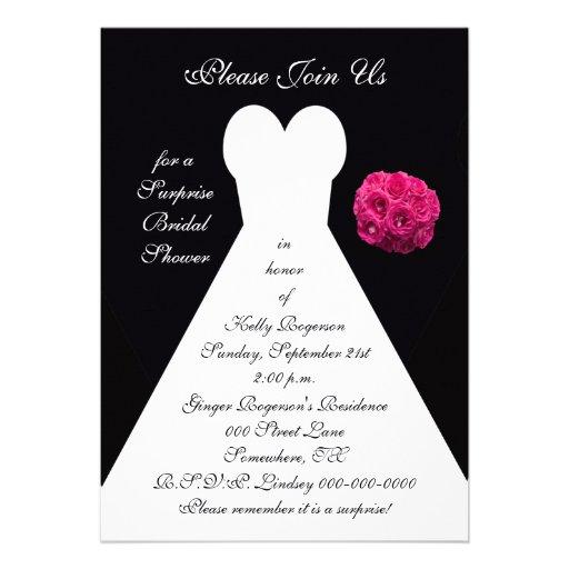 Surprise bridal shower invitation 5 x 7 invitation card for Zazzle custom t shirts