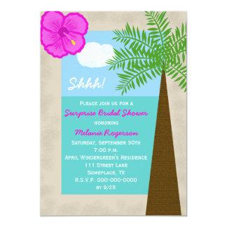 "Surprise Bridal Shower Invitation -- Tropical 5"" X 7"" Invitation Card"
