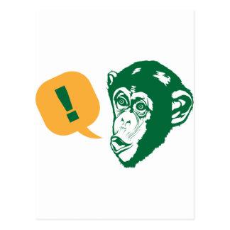 Surprise Chimp Postcard