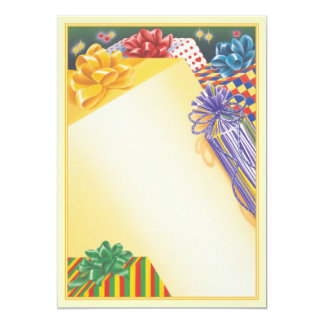 """Surprise Package © 5"""" X 7"""" Invitation Card"""