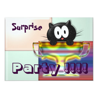 "Surprise Party 5"" X 7"" Invitation Card"