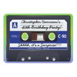 "Surprise Party Retro 80s Cassette Tape 5"" X 7"" Invitation Card"