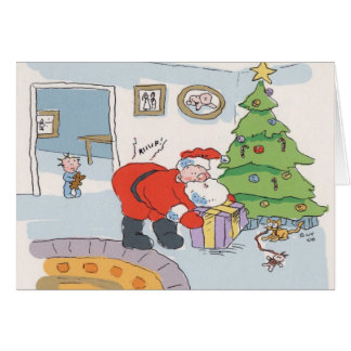 Surprise Santa Card