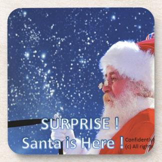 Surprise! Santa is here ! Beverage Coasters