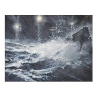 Surprised By Starshell Scharnhorst Battle of Postcard