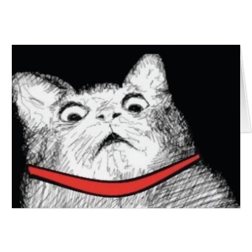 Surprised Cat Gasp Meme - Greeting Card | Zazzle