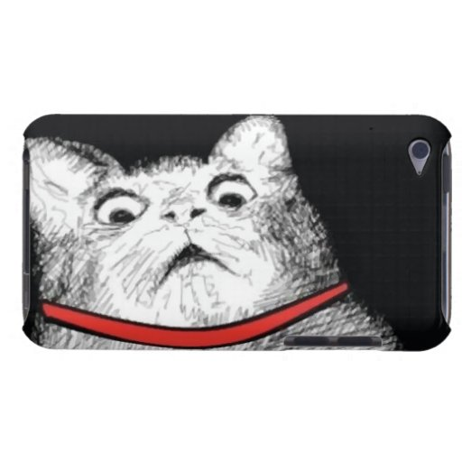 Surprised Cat Gasp Meme - iPod Touch 4 Case Barely There iPod Cases