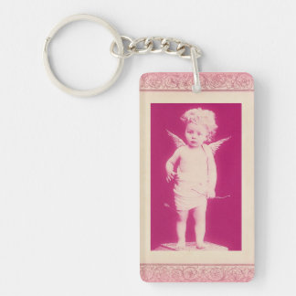 Surprised Cherub Double-Sided Key Chain