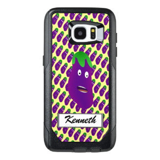 Surprised Eggplant by Kenneth Yoncich OtterBox Samsung Galaxy S7 Edge Case