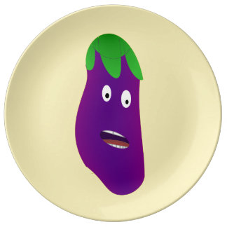 Surprised Eggplant by Kenneth Yoncich Plate