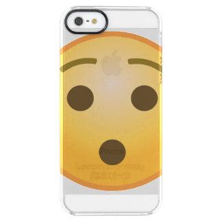 Surprised Emoji Clear iPhone SE/5/5s Case
