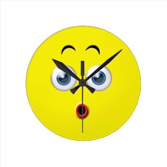 Surprised Emoji Wall Clocks
