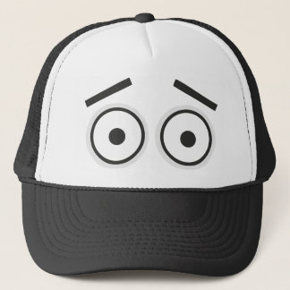 Surprised eyes trucker hat