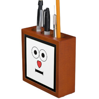 Surprised Face with Heart Nose Pencil Holder