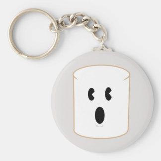 Surprised Marshmallow Keychain