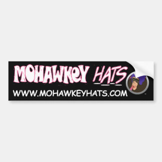 Surprised Mohawkey Monkey bumper sticker