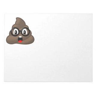 Surprised Poop Glasses Emoji Notepad