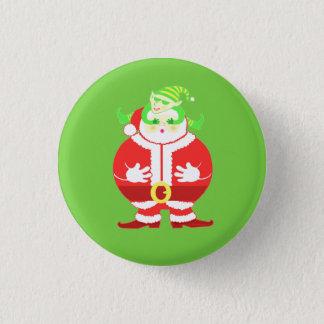 Surprised Santa 1 Inch Round Button