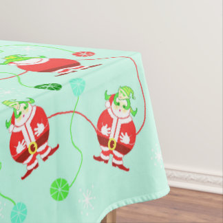 Surprised Santa (pattern) tablecloth