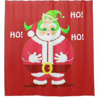 Surprised Santa shower curtain / backdrop