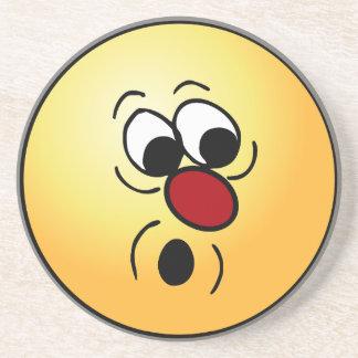 Surprised Smiley Face Grumpey Coaster