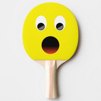 Surprised Yellow Dayglow Emoji Ping-Pong Paddle