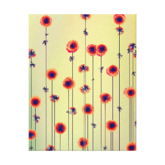 Surreal 22 x 28 Modern Wildflowers Canvas Print