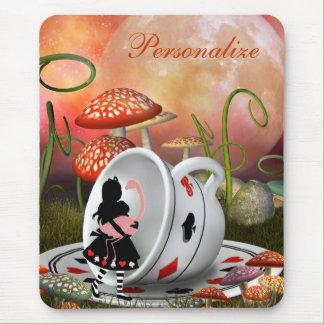 Surreal Alice, Flamingo & Teacup Mousepad