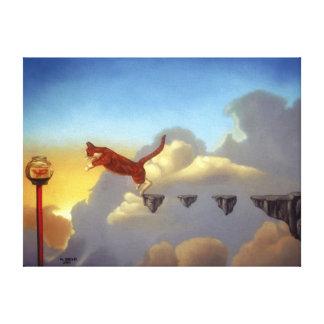 """Surreal Art Canvas Print """"Leap of Faith"""""""