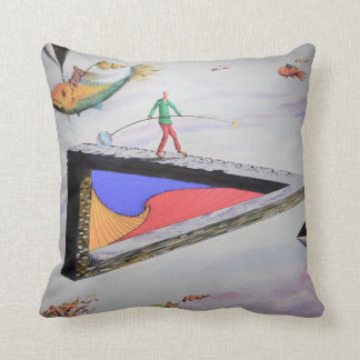 Surreal Artwork Cotton Throw Pillow