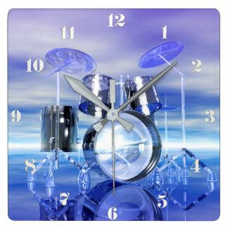 Surreal Beach Drum Set Music Wall Clock