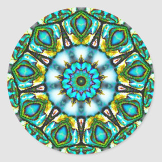 Surreal Beauty of the Paua Shell Fractal Classic Round Sticker