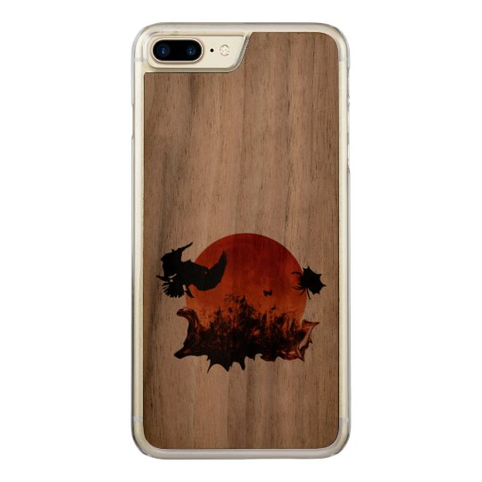 Surreal Blood Moon Scary Birds Artisan Carved iPhone 7 Plus Case