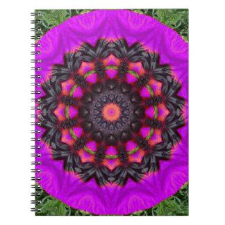 Surreal Blossoms, Flower Mandala Notebooks