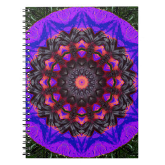 Surreal Blossoms, Flower Mandala Spiral Note Books