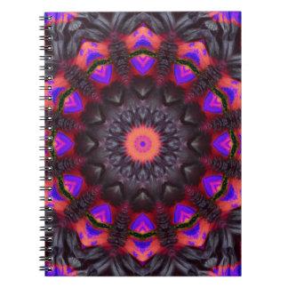 Surreal Blossoms, Flower Mandala Spiral Notebook
