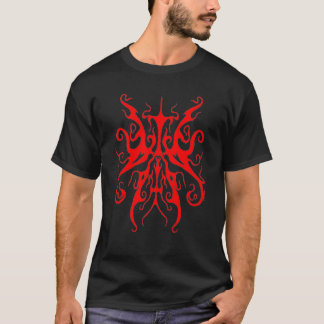 Surreal Butterfly Tribal Tattoo - red T-Shirt