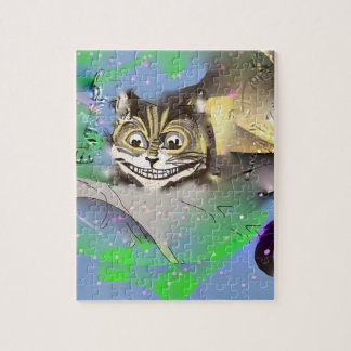 Surreal Cheshire Cat Fading into The Background Puzzle