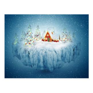 Surreal Christmas Fantasy Postcard