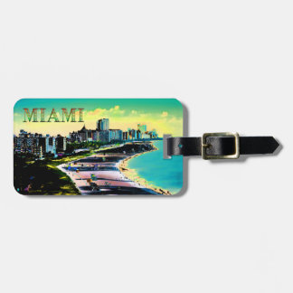 Surreal Colors of Miami Beach Florida Luggage Tag