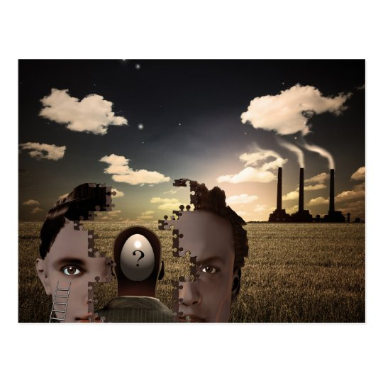 Surreal Composition Postcard