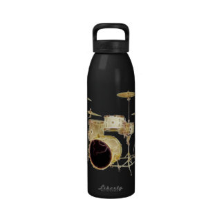 Surreal Drum Set Music Liberty Bottle Water Bottle