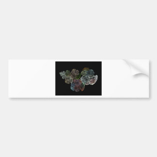 Surreal fractal flowers bumper sticker