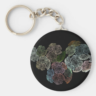 Surreal fractal flowers keychain
