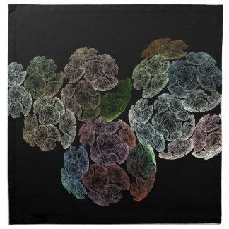 Surreal fractal flowers napkin