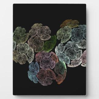Surreal fractal flowers plaque