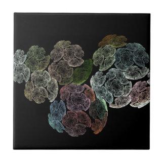 Surreal fractal flowers tile