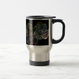 Surreal fractal flowers travel mug