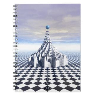 Surreal Fractal Tower Spiral Note Book